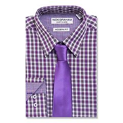Men's Nick Graham Everywhere Modern-Fit Dress Shirt and Tie Boxed Set