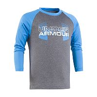 Toddler Boy Under Armour Logo Raglan Tee
