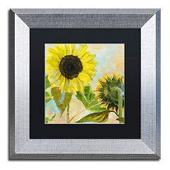 Trademark Fine Art Soleil I Silver Finish Framed Wall Art