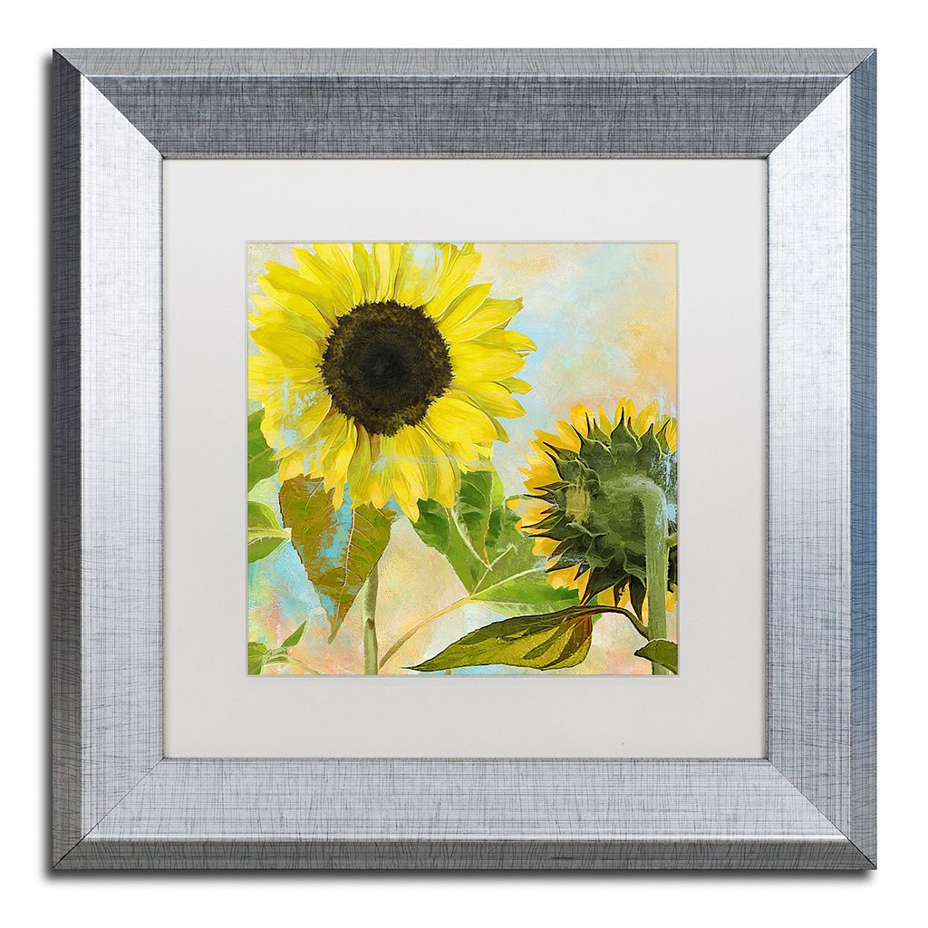 Trademark Fine Art Soleil I Silver Finish Framed Wall Art