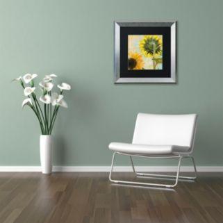 Trademark Fine Art Soleil II Silver Finish Framed Wall Art