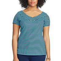 Plus Size Chaps V-Neck Jersey Tee