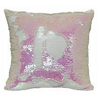 Brentwood Mermaid Sequin White Throw Pillow