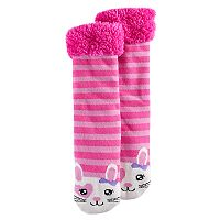 Girls 4-16 Sherpa-Lined Animal Cozy Warmer Slipper Socks