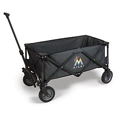 Picnic Time Miami Marlins Adventure Folding Utility Wagon