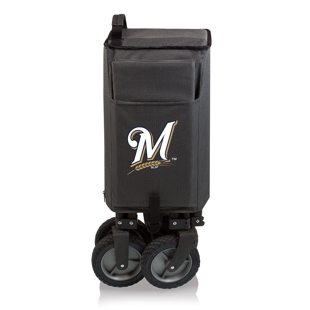 Picnic Time Milwaukee Brewers Adventure Folding Utility Wagon