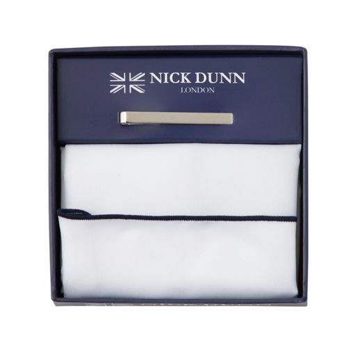 Men's Nick Dunn Pocket Square & Tie Bar Set