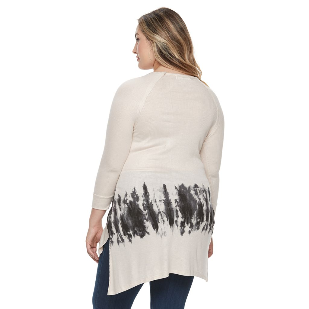 Plus Size French Laundry Criss-Cross V-Neck Tunic