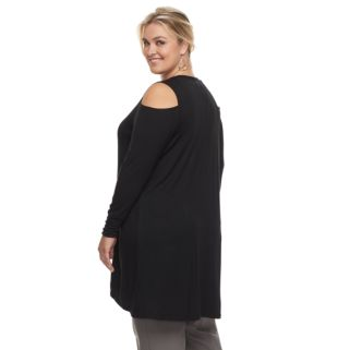 Plus Size French Laundry Cold-Shoulder Cardigan
