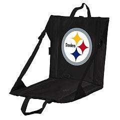 Logo Brands Pittsburgh Steelers Folding Stadium Seat