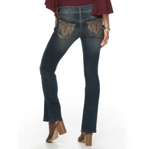 Petite Apt. 9® Embroidered Bootcut Jeans