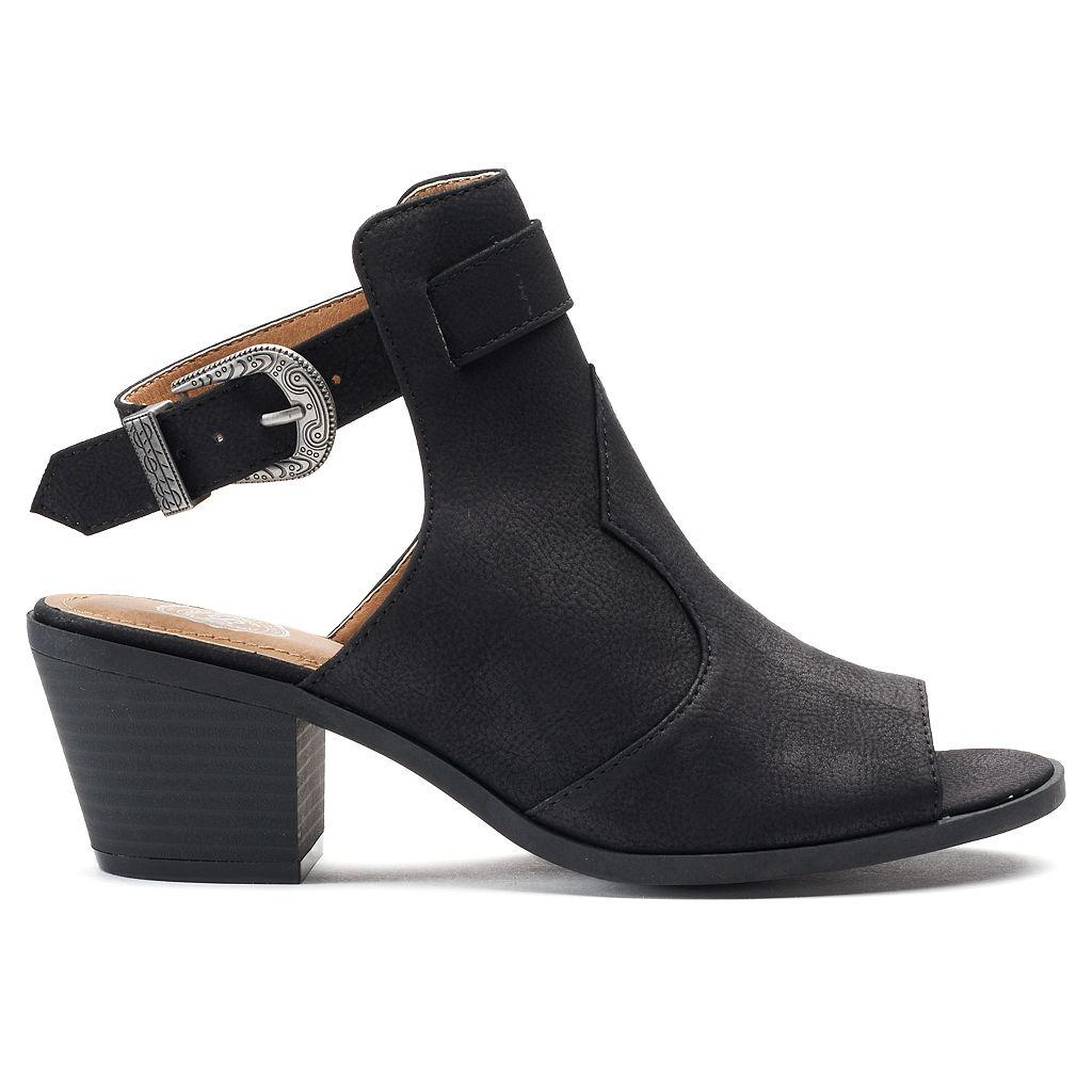 SO® Academy Women's Western Block Heel Ankle Boots