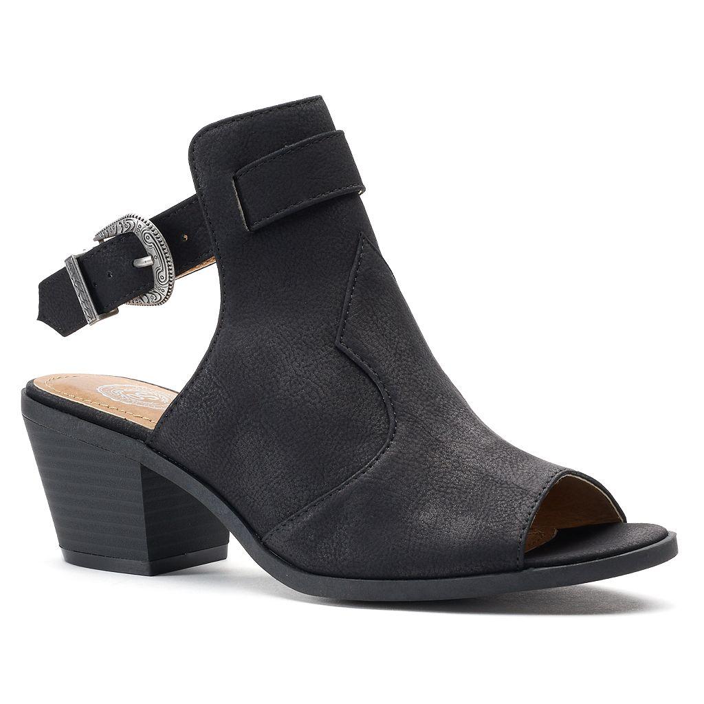 SO® Academy Women's Western Block Heel Sandals