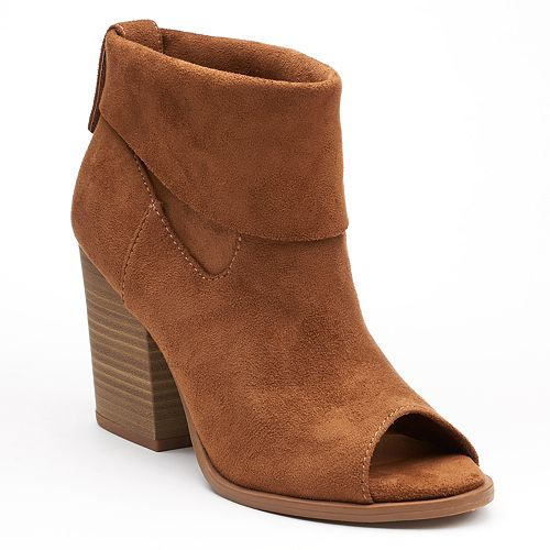 SO® Nochill Women's Peep Toe Ankle Boots