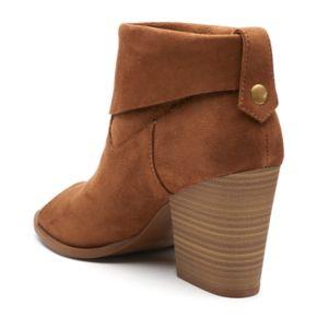 SO® Nochill Women's Peep Toe Ankle Boots