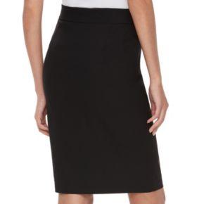 Women's ELLE™ Pull-On Black Pencil Skirt