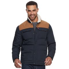 Big & Tall Levi's® Colorblock Sherpa-Lined Shirt Jacket