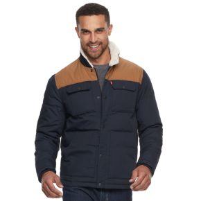 Big & Tall Levi's®® Colorblock Sherpa-Lined Shirt Jacket