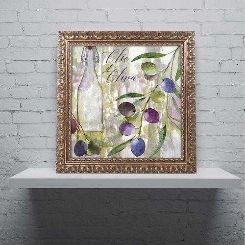 Trademark Fine Art Colors Of Tuscany I Ornate Framed Wall Art
