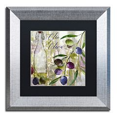 Trademark Fine Art Colors Of Tuscany I Silver Finish Framed Wall Art
