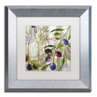 Trademark Fine Art Colors Of Tuscany I Silver Finish Framed Wall Art