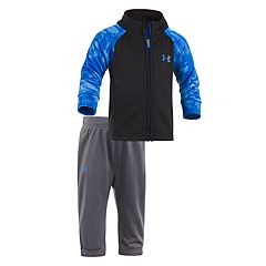 Toddler Boy Under Armour Cloudy Grid Mockneck Jacket & Pants Set