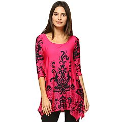 Women's White Mark Scroll Tunic