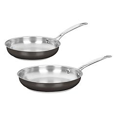 Cuisinart 2 pc Black Stainless Steel Skillet Set
