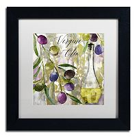 Trademark Fine Art Colors Of Tuscany II Black Framed Wall Art