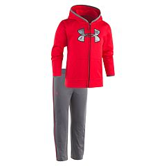 Toddler Boy Under Armour 2-pc. Red Atlas Camo Zip Hoodie & Pants Set