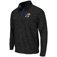 Men's Campus Heritage Kansas Jayhawks Action Pass Quarter-Zip Pullover