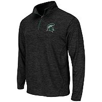 Men's Campus Heritage Michigan State Spartans Action Pass Quarter-Zip Pullover