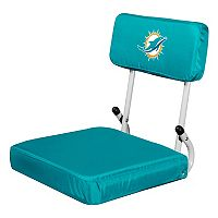 Logo Brands Miami Dolphins Hard Back Stadium Seat