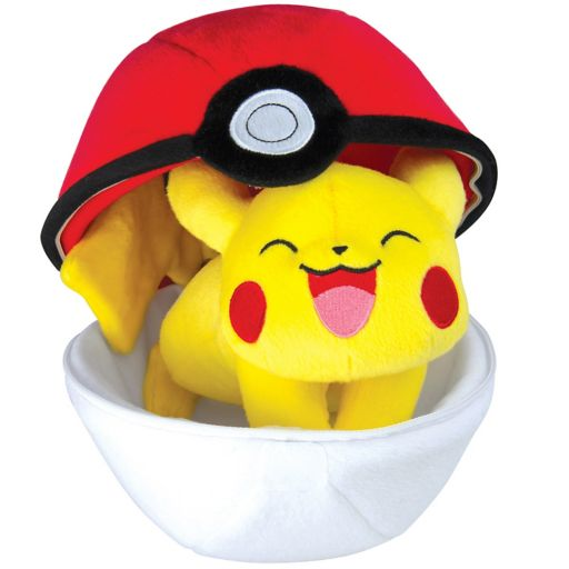 Pokémon Pikachu & Zipper Poké Ball Plush by Tomy