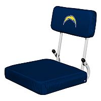 Logo Brands Los Angeles Chargers Hard Back Stadium Seat