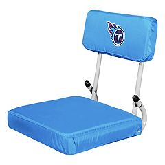 Logo Brands Tennessee Titans Hard Back Stadium Seat