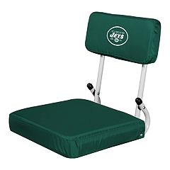 Logo Brands New York Jets Hard Back Stadium Seat