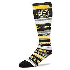 Adult For Bare Feet Boston Bruins Tailgater Crew Socks