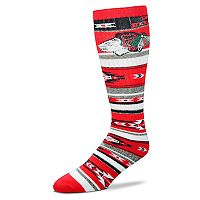 Adult For Bare Feet Chicago Blackhawks Tailgater Crew Socks