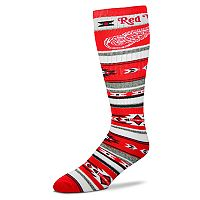 Adult For Bare Feet Detroit Red Wings Tailgater Crew Socks