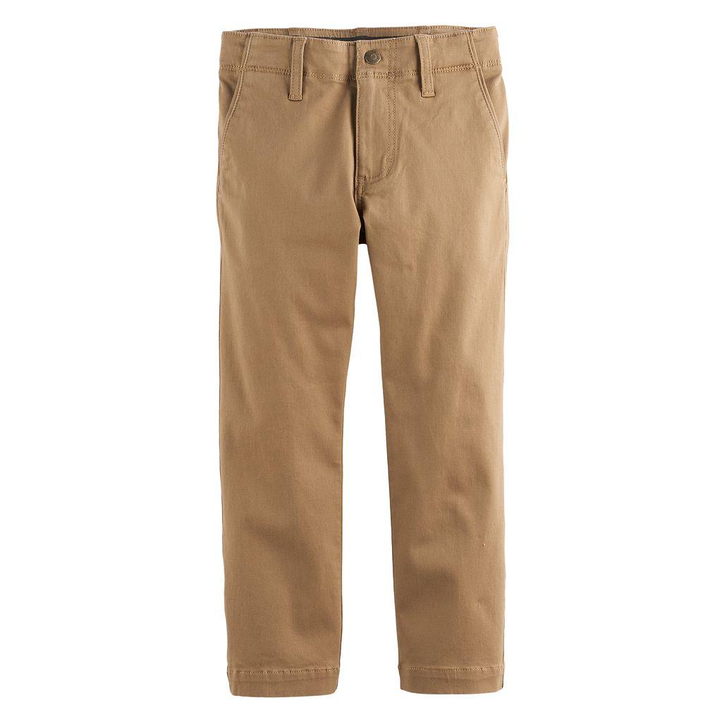 Boys 4-7x Lee Dungarees Slim Fit Original Khaki Pants