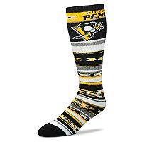 Adult For Bare Feet Pittsburgh Penguins Tailgater Crew Socks