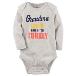 """Baby Carter's """"Grandma Loves This Little Turkey"""" Thanksgiving Bodysuit"""