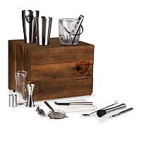 Picnic Time Oakland Raiders Madison Acacia 19-piece Tabletop Bar