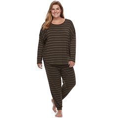 Plus Size Apt. 9® Pajamas: Drop Shoulder 2 pc PJ Set