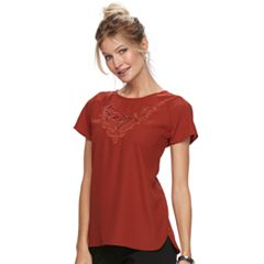 Women's Dana Buchman Lace Embroidered Woven Top