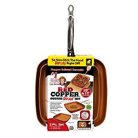 As Seen on TV Red Copper 2-pc. Ceramic Square Pan Set