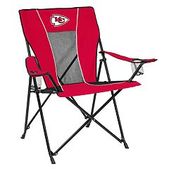 Adult Logo Brand Kansas City Chiefs Game Time Portable Folding Chair