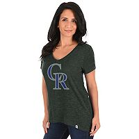 Women's Majestic Colorado Rockies Check the Win Tee