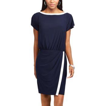 Women's Chaps Colorblock Blouson Dress